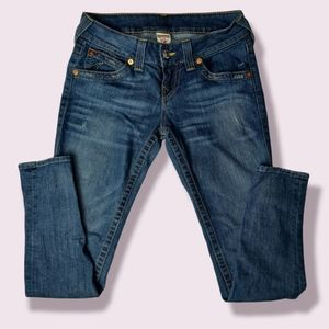 True Religion Medium Wash Skinny Jean Size 28